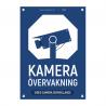 Kameraövervakningsskylt blå med vår egen design - A4-storlek