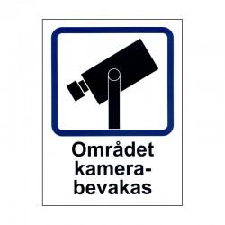 Dekal Området kamerabevakas A4 - klister baksida