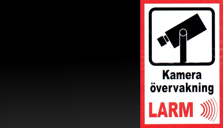 Bild 2 - Larmdekaler.nu bildgalleri förstasidan - Generella larmdekaler och skyltar