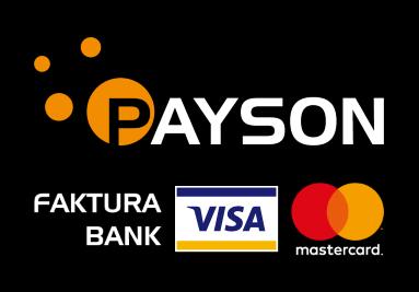 Hos oss på Larmdekaler.nu kan du betala med Payson - Faktura, Bank, Visa, Mastercard och Delbetalnin